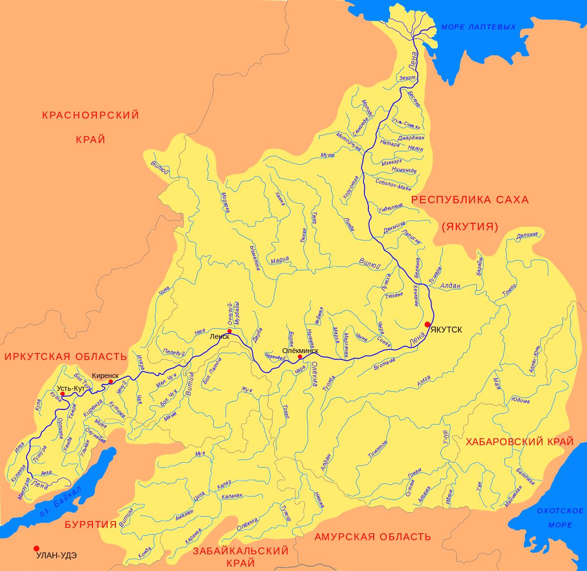 река Лена: от Байкала до моря Лаптевых