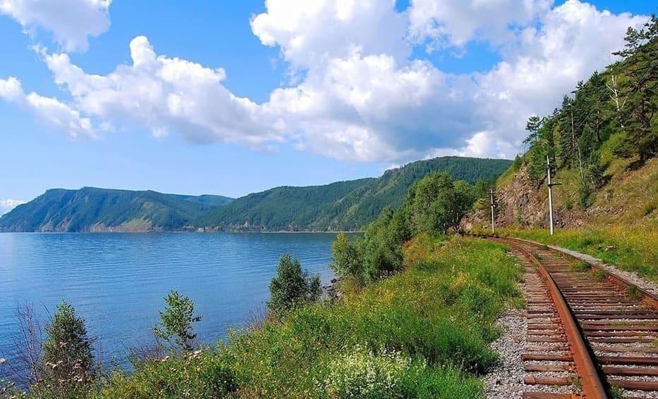 участок КБЖД вдоль Байкала