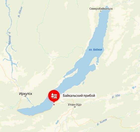 Байкальский Прибой на карте