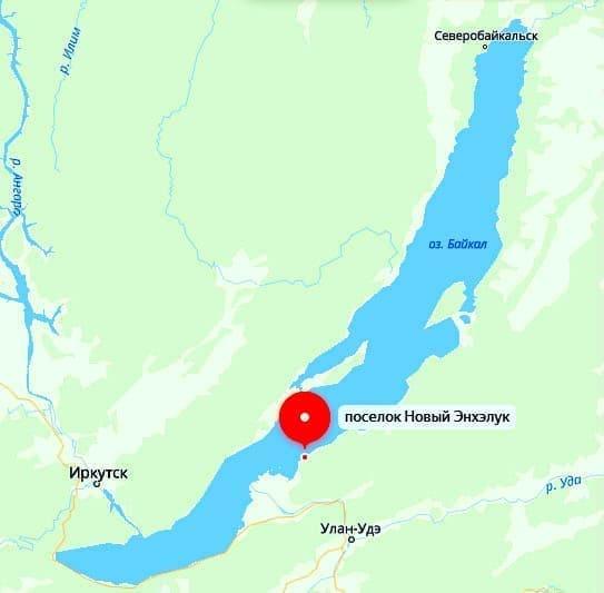 Энхалук на карте Байкала