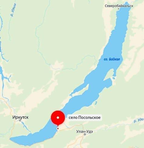 село Посольское на карте