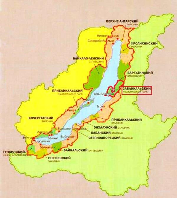Забайкальский нацпарк на карте