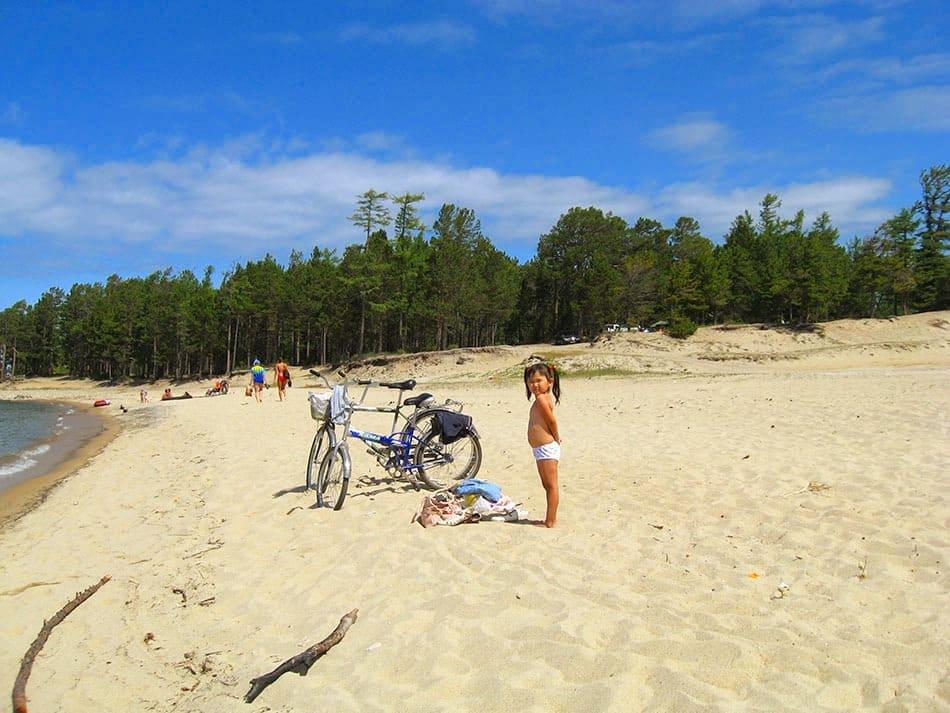 горячинский пляж в июле