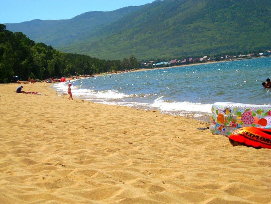 пляж в Максимихе